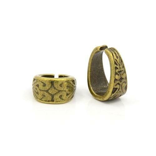 Tibetan Oval Spring Pinch Bails Antique Bronze 11.5x13.5mm  10 Pcs DIY Jewellery
