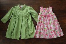 Polly Flinders Girls Toddler 3T Dress Coat Jacket Set Outfit Easter Wedding Pink