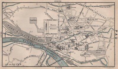 Europe Maps Pyrénées-atlantiques 1885 Old Map Elegant In Smell Art Prints Pau Antique Town City Plan De La Ville