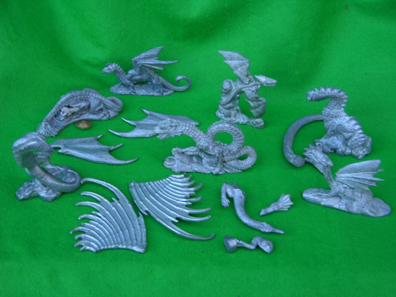GRENADIER DRAGONS, UNPAINTED, UNBOXED MULTI-LISTING