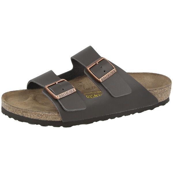 Birkenstock Arizona Glattleder Schuhe dark brown 051103 Sandalen Weite schmal