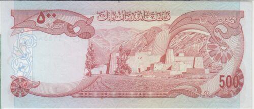 UNC We combine Afghanistan banknote P52 500 Afghanis AH 1356