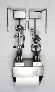 Dévidoir mural papier toilette WC IN-OUT Hinz & Kunst en acier