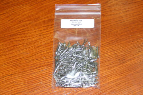 """AN381-3-8 200 ea MS24665-298 Stainless Steel 3//32"""" X 1//2"""" Cotter Pins"""