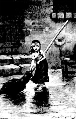 Cosette Emile Bayard Les Miserables Victor Hugo print