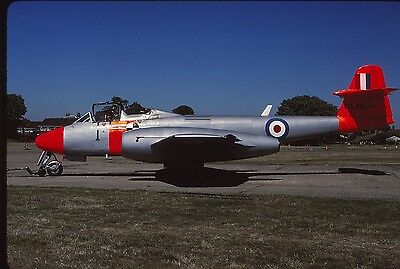 Original colour slide Meteor T.7 WL419 of Martin Baker