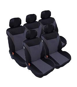 5x-Sedili-Auto-Coprisedile-Coprisedili-rivestimenti-per-Opel-Zafira-Tourer-C-GRIGIO