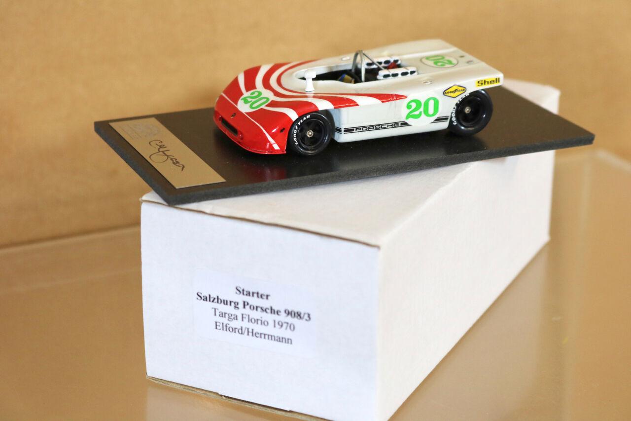 Motor de arranque Modelos Targa Florio 1970 Salzburgo Porsche 908 3 coche 20 Elford por Fraser