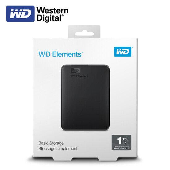 WDBUZG0010BBK-EESN WD 1TB WD Elements Portable USB 3.0 Hard Drive Storage