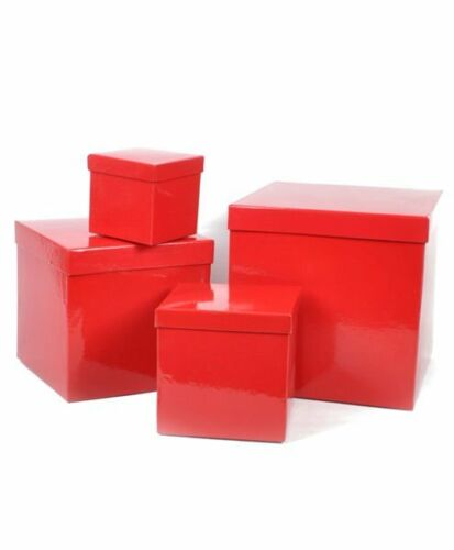 """Boxed-Gifts/'s Elegant Gift Box Set /""""Solid Lucky Red/"""" Classic Sizes BX0814"""