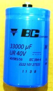 Vishay 33000uF 40V DC Aluminium Electrolytic Capacitor 10000h MIG Welding PSU