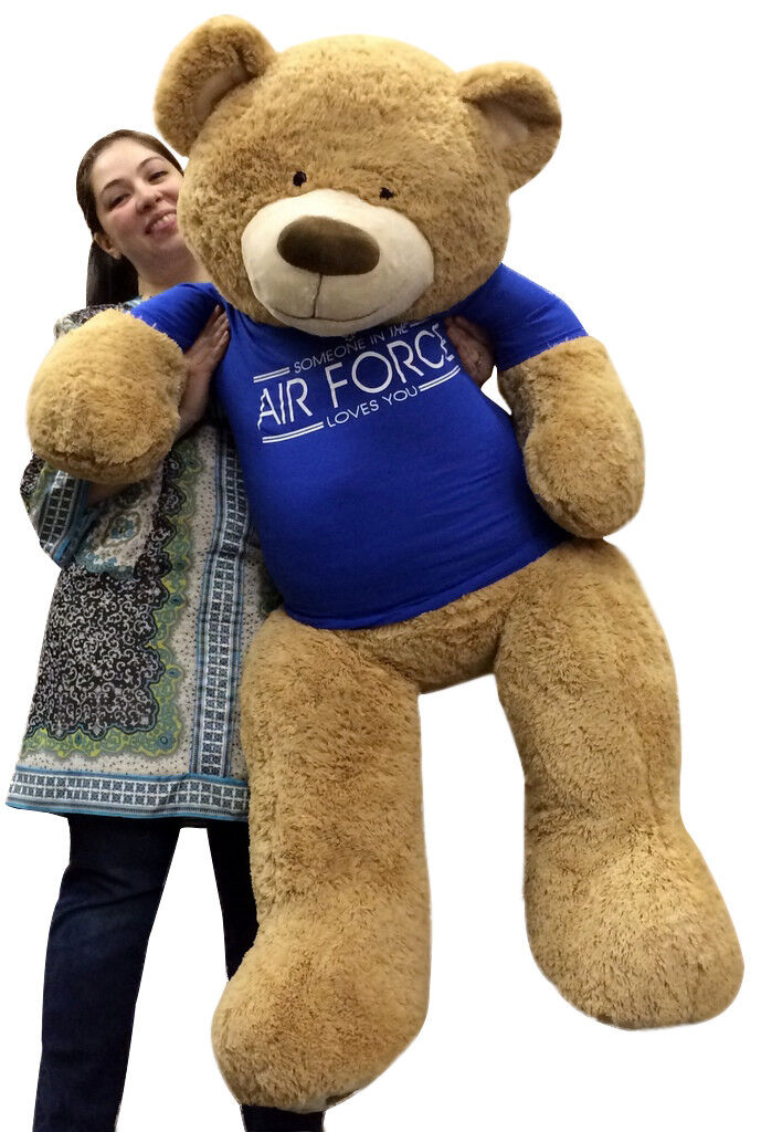 Giant Air Force 5 ft.Teddy Bear Soft inTshirt SOMEONE IN THE AIR FORCE LOVES YOU