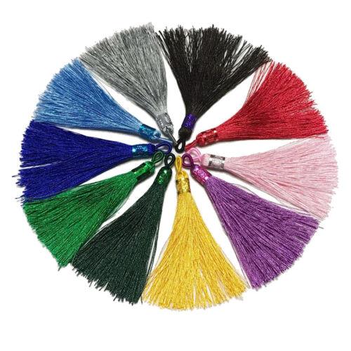 10 Stück Mixed Silk Tassel Anhänger Bunte Quasten Anhänger für