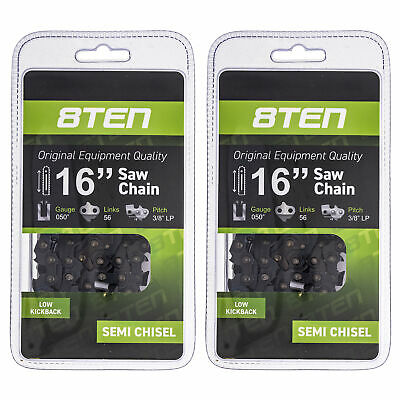 3PACK Chainsaw Chain 14 Inch Bar .050 Gauge 3//8 LP Pitch 52DL For Echo Poulan