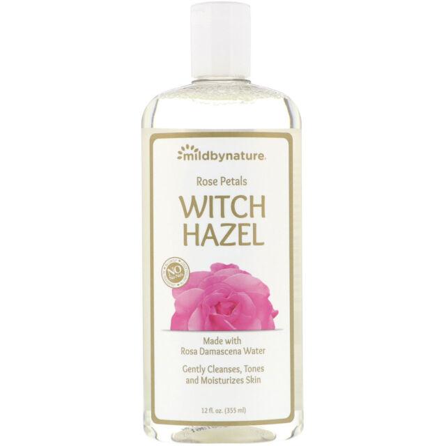 Mild By Nature  Witch Hazel Rose Petals  Alcohol-Free  12 fl oz  355 ml