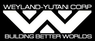 Weyland Yutani Corp Cool Vinyl Danger Car Motorbike Smooth Surface Decals Stick