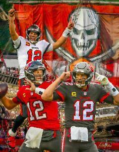 Tom Brady Tampa Bay Buccaneers Super Bowl Champions Bucs NFL Football 8x10-48x36