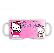Personalised Name Hello Kitty Mug, Birthday, Christmas Gift, Size 11oz