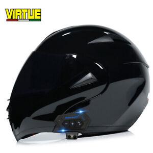 DOT Approved Modular Bluetooth Motorcycle Helmet Dual Lens Motorbike Moto Helmet
