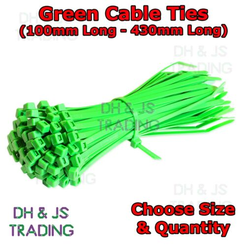 Plastic Zip Tie Wraps Cable Ties All Sizes Green Nylon Cable Ties