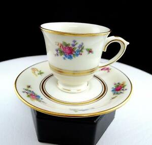 "LAMBERTON CHINA ROSE OF LAMBERTON 2 3/8"" DEMITASSE CUP AND SAUCER SET"