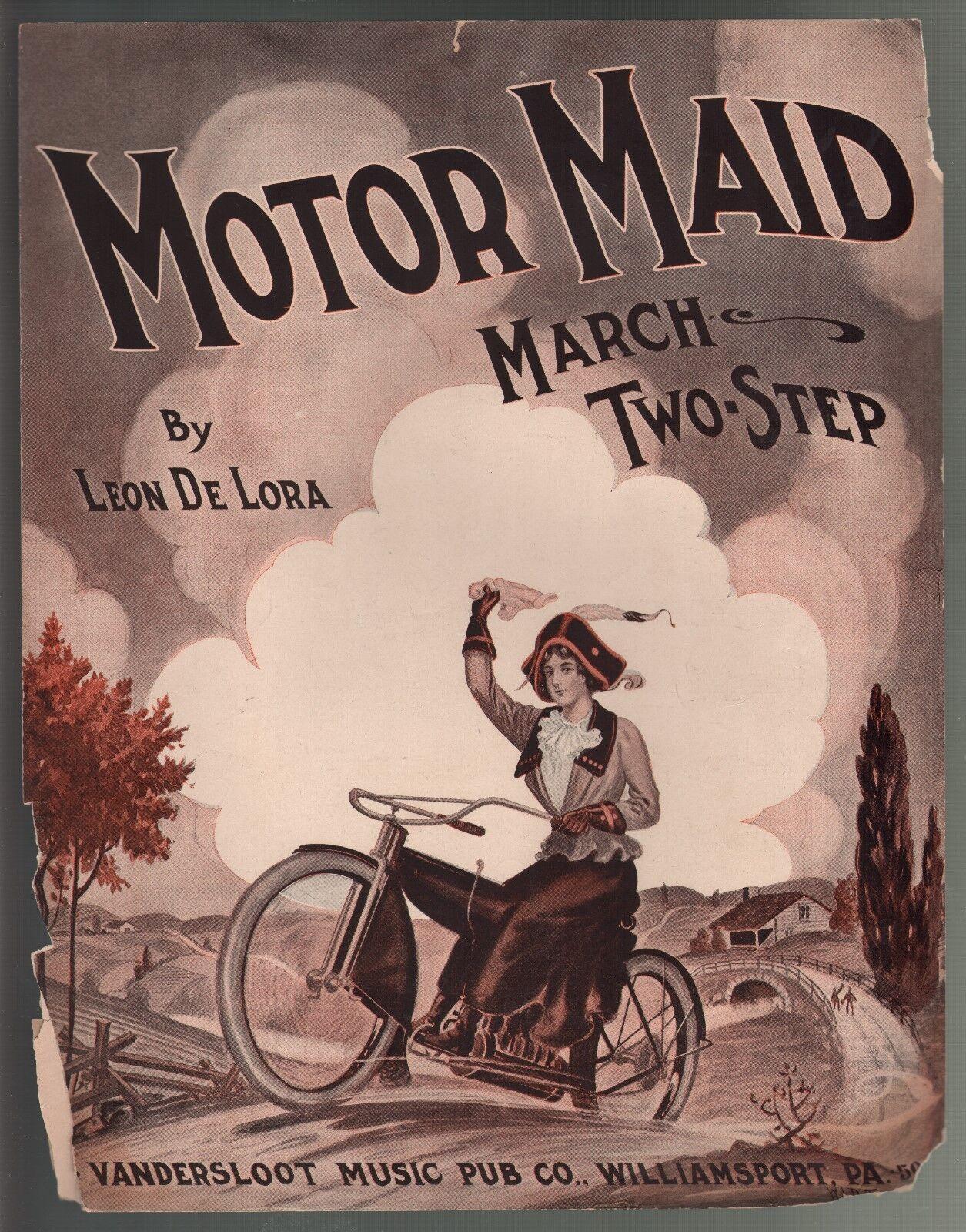 Motor Maid Maid Maid marzo 1912 Gran Formato Partituras  bajo precio del 40%