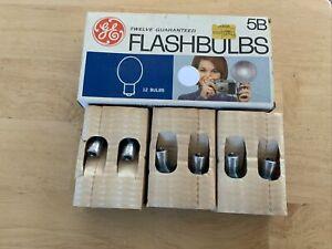 Vintage GE Flash Bulbs 5B Box of 12 Camera Flashbulbs General Electric - NOS