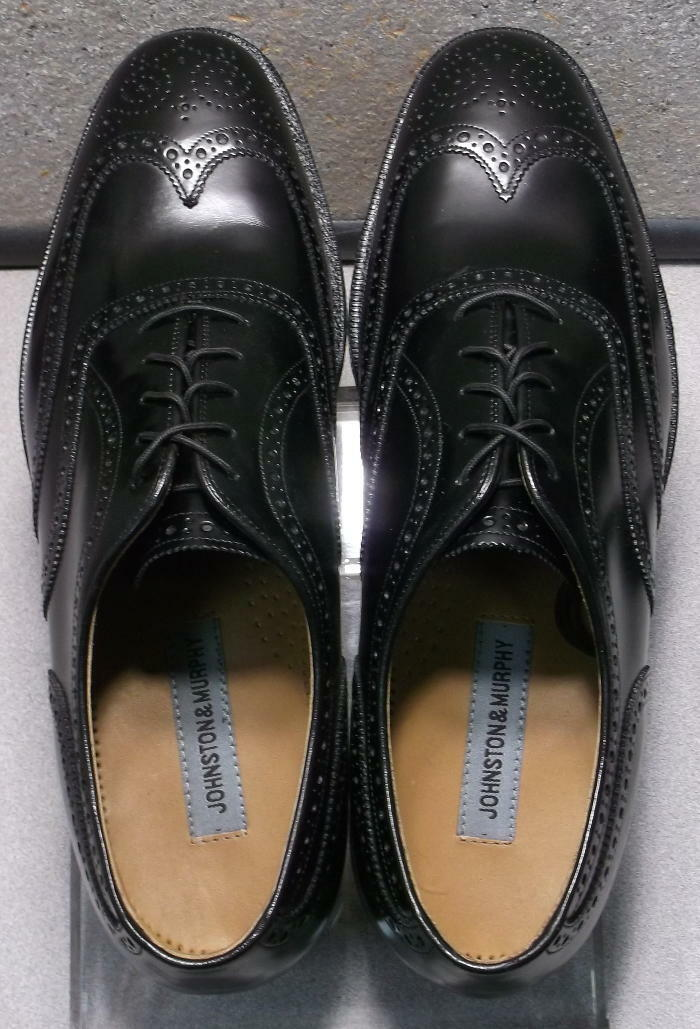 2203501 MS50 Men's Shoes Size 11 M Black Leather Lace Up Johnston & Murphy