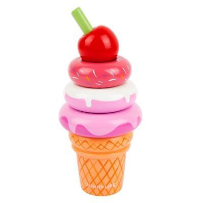 NEW Sunnylife Wooden Ice Cream Sundae Stacking Toy - Pink