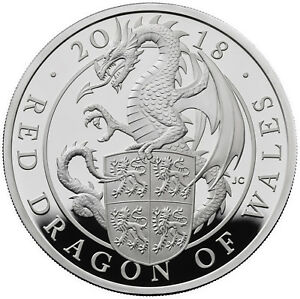 1-Oz-Silver-Proof-Queens-Beasts-Red-Dragon-of-Wales-2-UK-2018-silber-Drache
