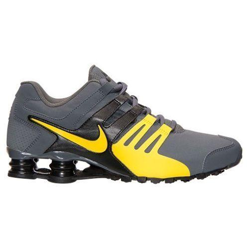 Nike Shox Current  Mens Shoe size TOUR 8 633631-070 DARK GREY TOUR size YELLOW BLACK f507f7