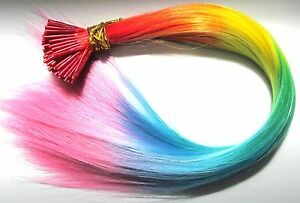 22-034-Rainbow-Feather-Hair-Extensions-Vivid-Colour-I-Tip-Plus-FREE-Micro-Beads
