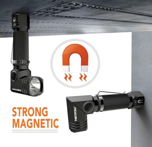NICRON N7 Led Flashlight Dual Fuel 90 Degree Rotary Head 600LM Water Resistant