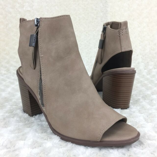 876940b406b3 Circus Sam Edelman Size 10 M Kammi Oatmeal Suede Open Toe Stacked Heel Shoes  New