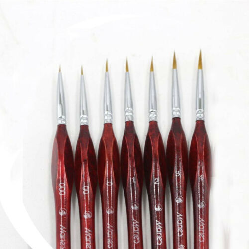 7Pcs//set Miniature Paint Brush Professional Sable Hair Detail for Fine Detailing