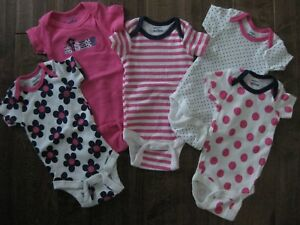 5-PACK-GERBER-ONESIE-SET-SIZE-0-3months-BABY-GIRL-BRAND-NEW