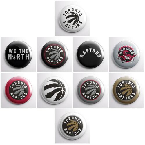"TORONTO RAPTORS 1/"" pins sports team pin NBA basketball pinback buttons"
