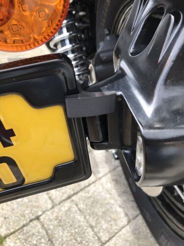 Regwedge for the Harley Davidson number plate side mount Bracket 60972-10