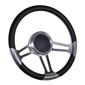 "Boat Steering wheel 3 spoke Adapter 3//4/"" tapered key Marine Black chrome"