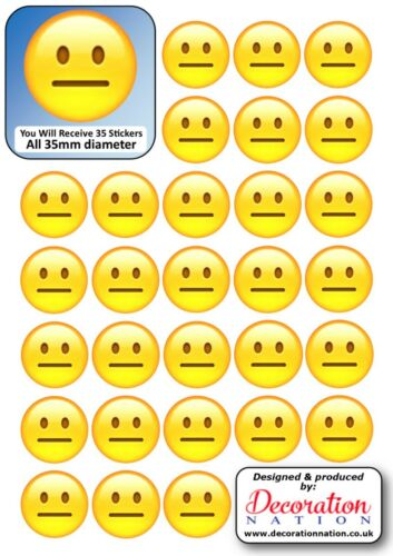 Emoji-Straight Face Stickers Décoration Fun Kids Poker Face aucune Expression