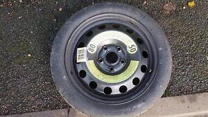"AUDI VW Volkswagon SEAT SKODA 16 /""Space Saver ruota di scorta /& Pneumatici"