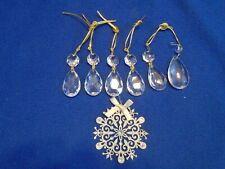 Lots 10x Teardrop Waterdrop Crystal Glass Beads Ornaments Xmas Hanging Decors US