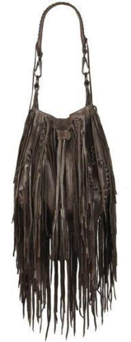 Rare Leather Hobo Allsaints Bitter Bag Drawstring Fringe Bucket Brown Bonita Afargqf
