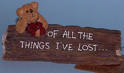 "Boyds Bears desk sign,""Albert..I Miss My Mind"" #4144, office bear, lost my mind"