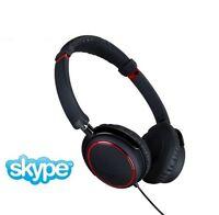 Igo Memphis Stereo Headphones Microphone & Skype Adapter Black Red