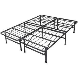 Platform Bed Frame Steel Metal No Box Spring Needed Bed