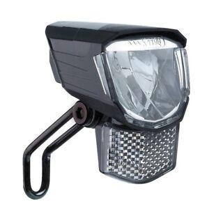 fahrrad scheinwerfer beleuchtung led lampe vorne 45 lux f r e bike pedelec ebay. Black Bedroom Furniture Sets. Home Design Ideas