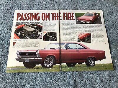 """1966 Ford Fairlane Gta Artikel """" Passing On The Fire Tri-power 390 Bequem Und Einfach Zu Tragen"""