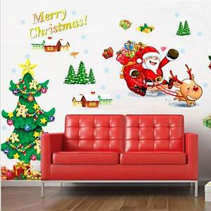 Christmas Wall Decals Removable.Details About Merry Christmas Wall Art Removable Home Vinyl Window Wall Stickers Decal Decor
