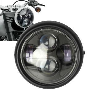 6-5-039-039-45W-Moto-Phare-Projecteur-Hi-Lo-LED-Lamp-Headlight-DRL-Pour-Harley-Davidson